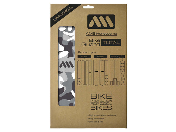 AMS Frame Guard Camo pattern design in Total size inside the packaging