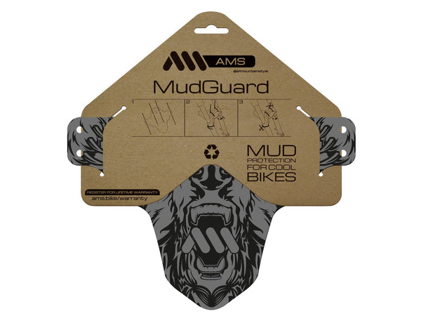AMS Mud Guard Bear Design product in packaging