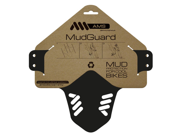 AMS Mud Guard Black product in packaging