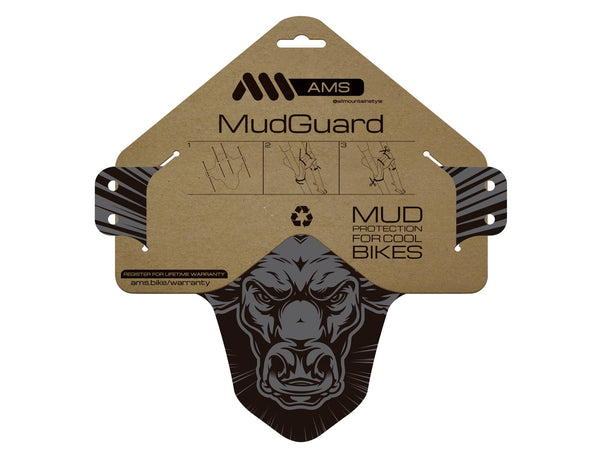 AMS Mud Guard Bull design product in the packging