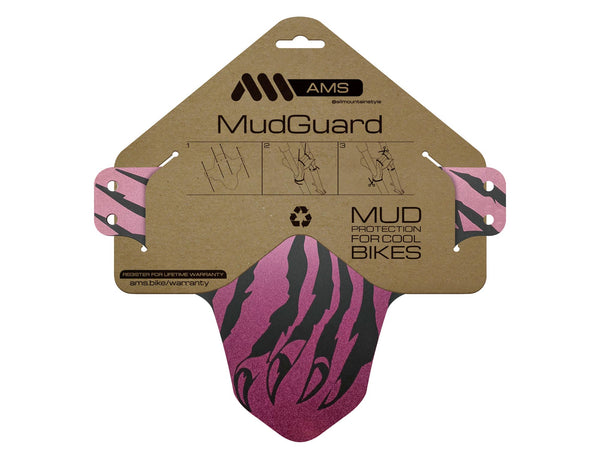 AMS Mud Guard Claw color gradient mud guard product in the packaging