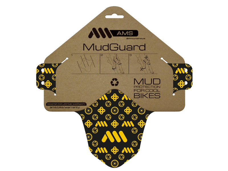 AMS Mud Guard couture design flat in the packaging