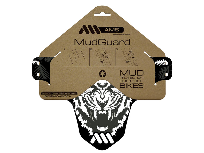 AMS Mud Guard Happy Ridings inside the packaging