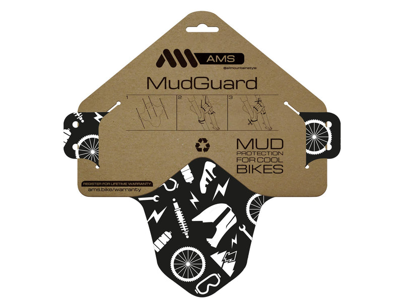 AMS Mud Guard Joy Ride design in the packaging