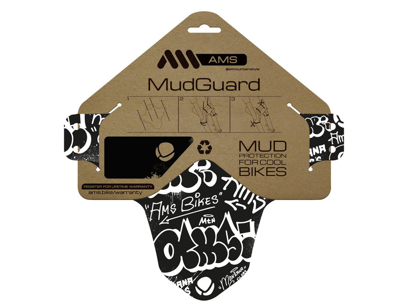 AMS X Montana Colors graffiti mud guard in the packaging