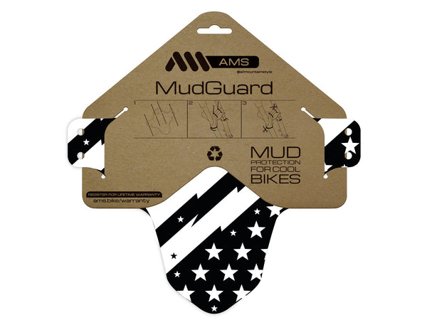 AMS Mud Guard Patriot design product in the packaging