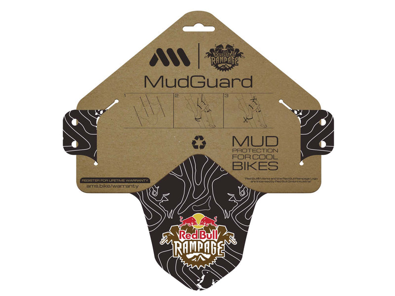AMS X Red Bull Rampage Mud Guard in White inside the packaging