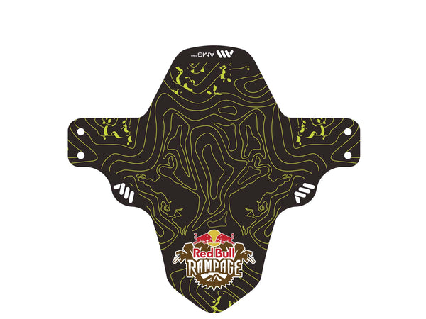 AMS X Red Bull Rampage Mud Guard in Yellow outside the packaging