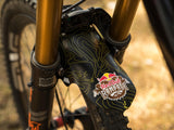 AMS X Red Bull Rampage Mud Guard Yellow on a mtb