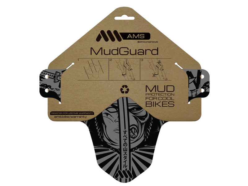 AMS Mud Guard Ronin inside the packaging