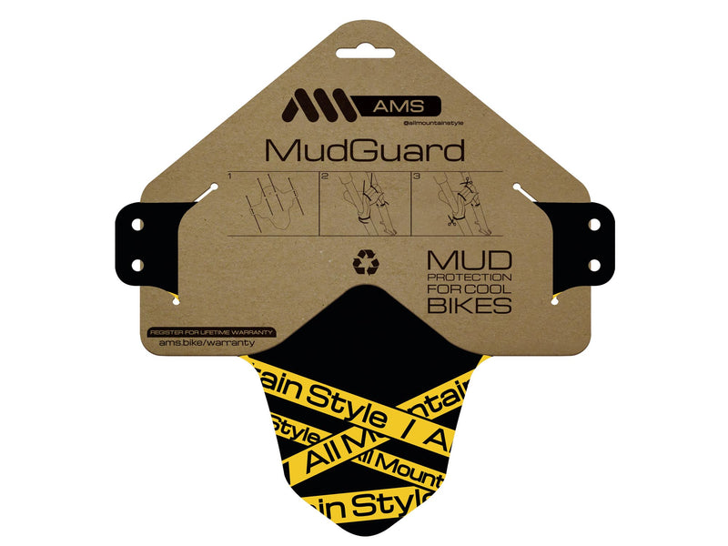 AMS Mud Guard Toxic inside the packaging