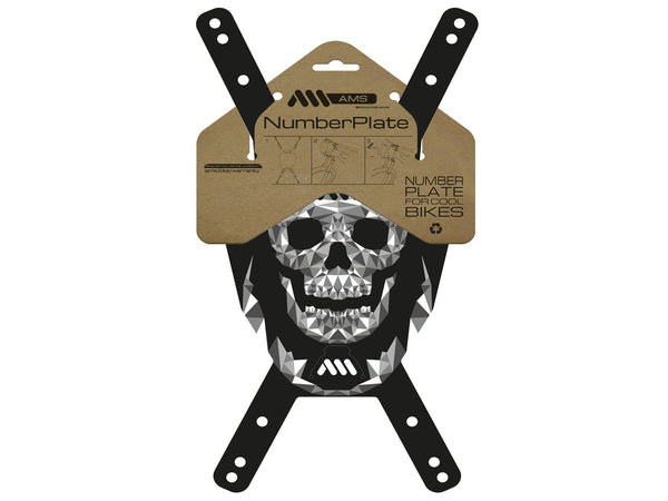 AMS Number Plate Skull design in its packaging
