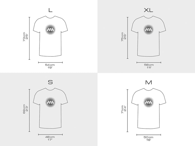 AMS Arizona tshirt sizing chart