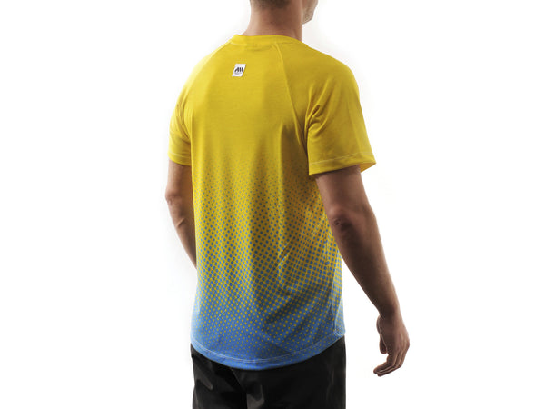AMS Drops short sleeve jersey in yellow back