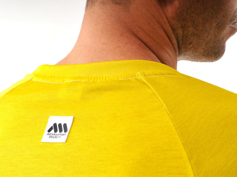 AMS Drops short sleeve jersey in yellow detail