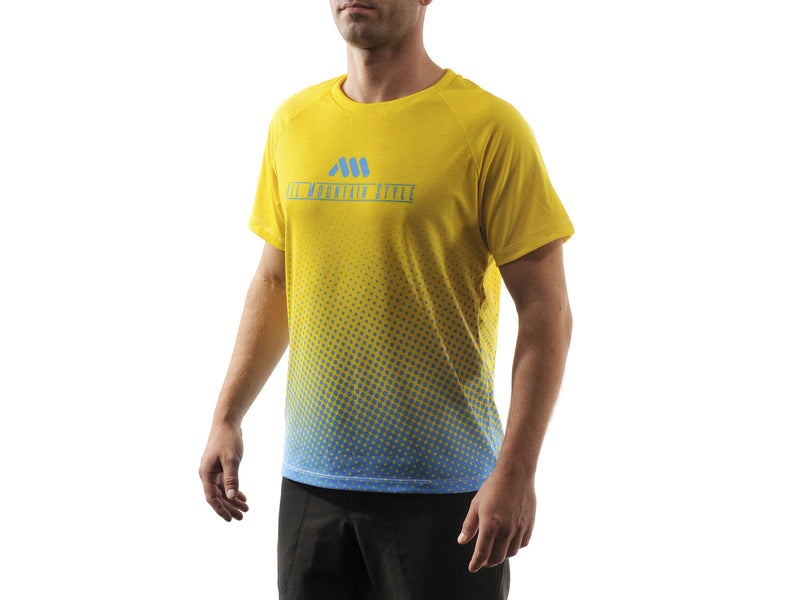 AMS Drops short sleeve jersey in yellow front