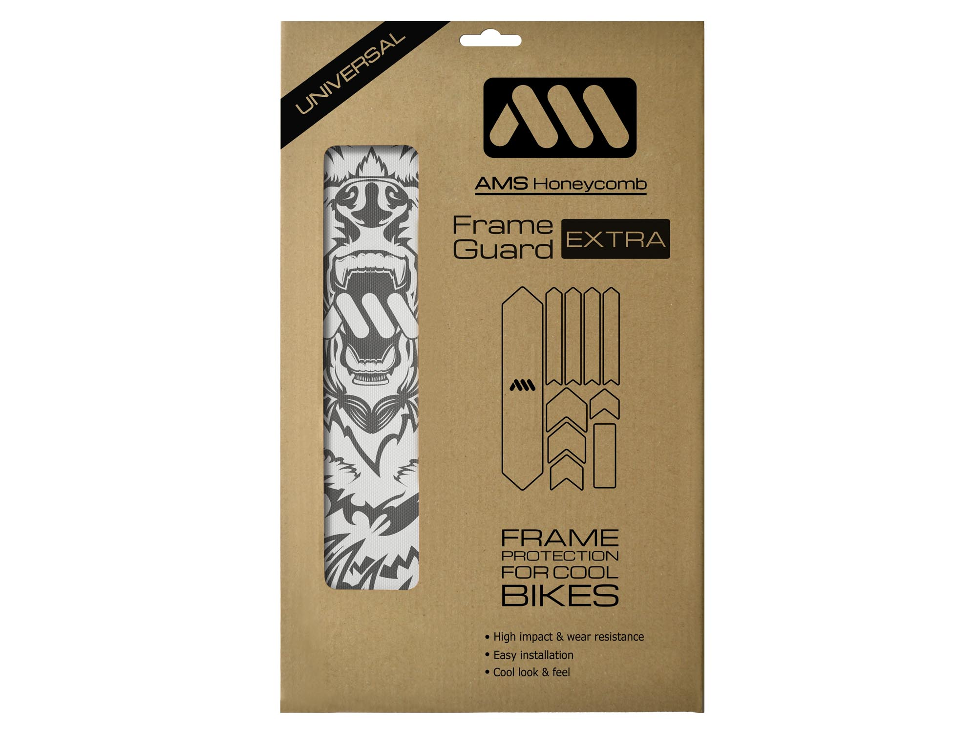 AMS Bear in Grey Frame Guard Extra size in the packaging