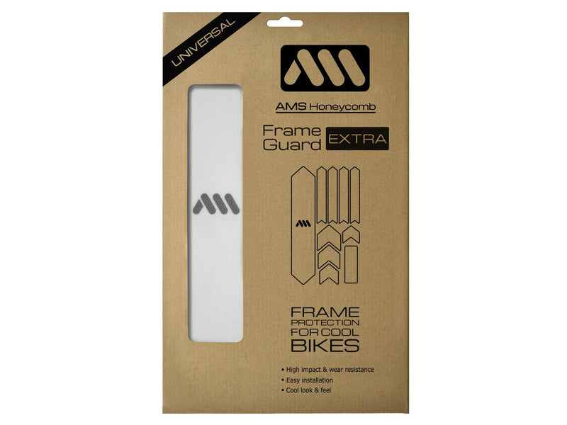 AMS Honeycomb Extra Size Frame Guard in Clear color in the packaging