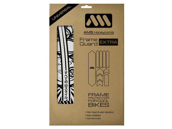 AMS honeycomb Frame Guard Extra size Ronin Grey design inside packaging