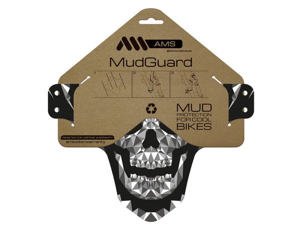 AMS Mud Guard Skull pattern packaging
