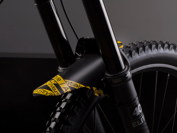 AMS Mud Guard Toxic on a DH bike