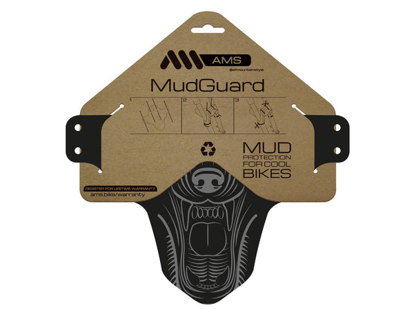 AMS Mud Guard Wolf product inside packaging