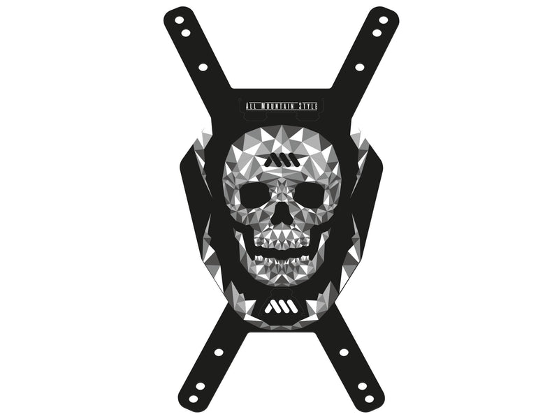 All Mountain Style Skull Number Plate