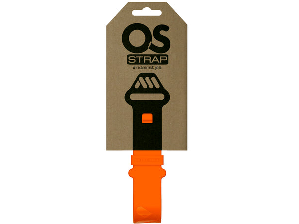 AMS OS Strap in orange color inside the packaging