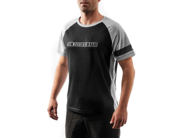 AMS Patrol short sleeve jersey in black front