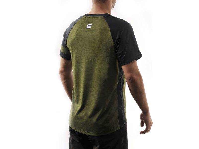 AMS Patrol short sleeve jersery in green back
