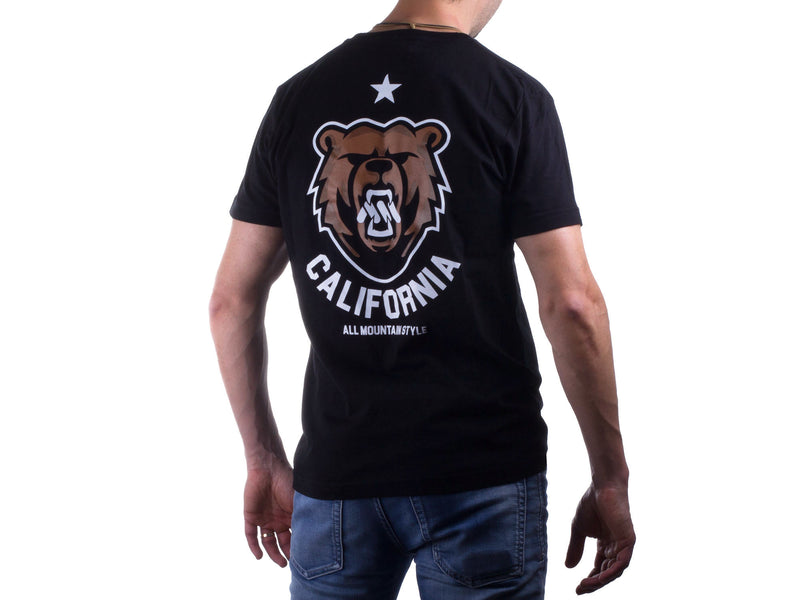 AMS California Bear Tee Black Rear view