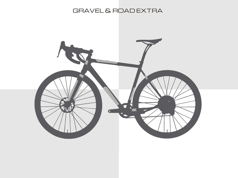 AMS Frame Guard Gravel/Road Extra size placement examples
