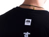 AMS Nippon Tee Black Rear Label view