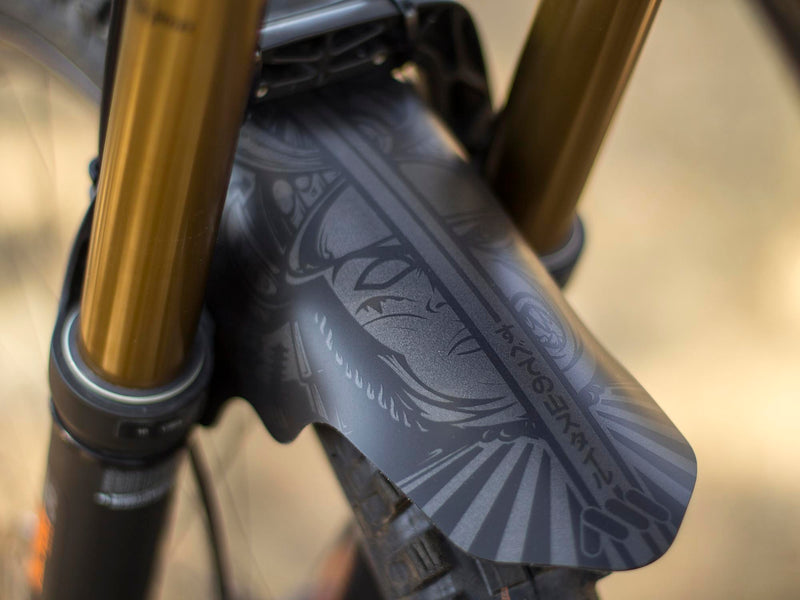 AMS Mud Guard Ronin on a Unno bikes left side