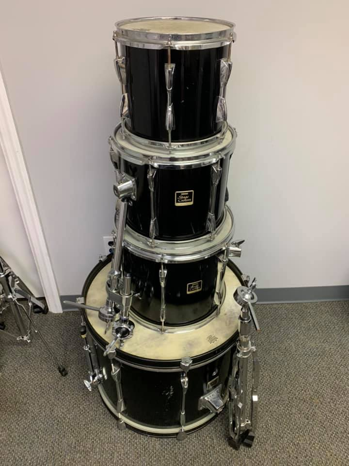 Yamaha Stage Custom Shell Pack Drum Set Black Lacquer