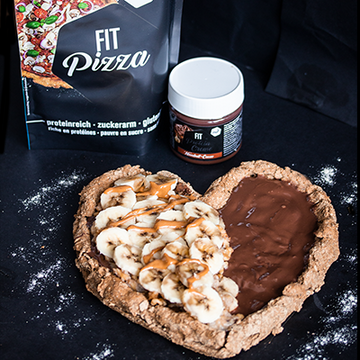 Fit Pizza sucrée de Saint-Valentin