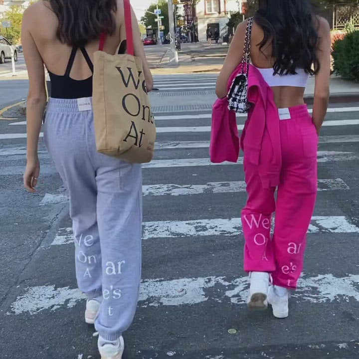 Wear One's At French Terry Sweatpants on Models Walking Through the Streets
