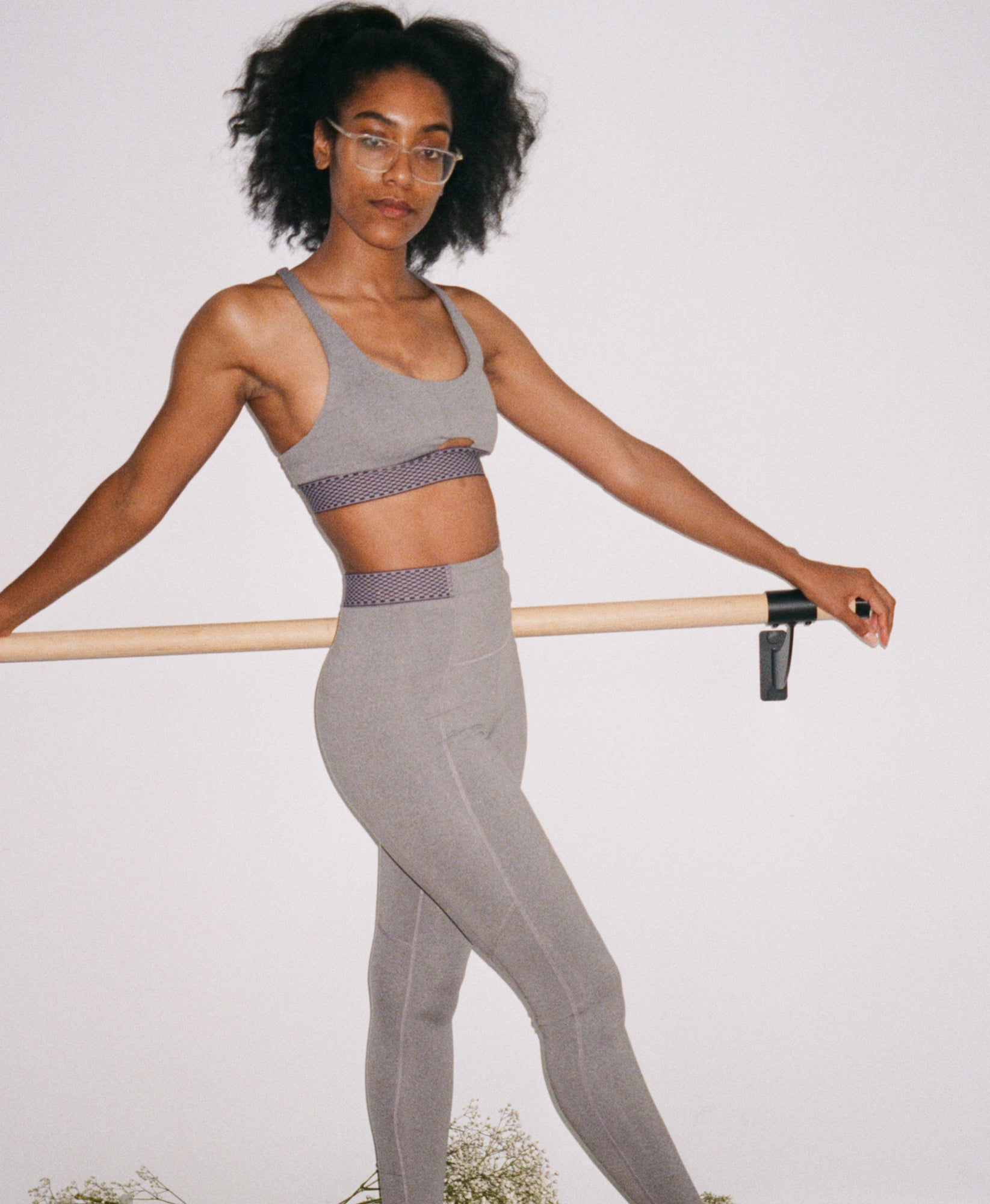 Wear One's At Free Throw Legging in Sport Grey on Model Full Front View