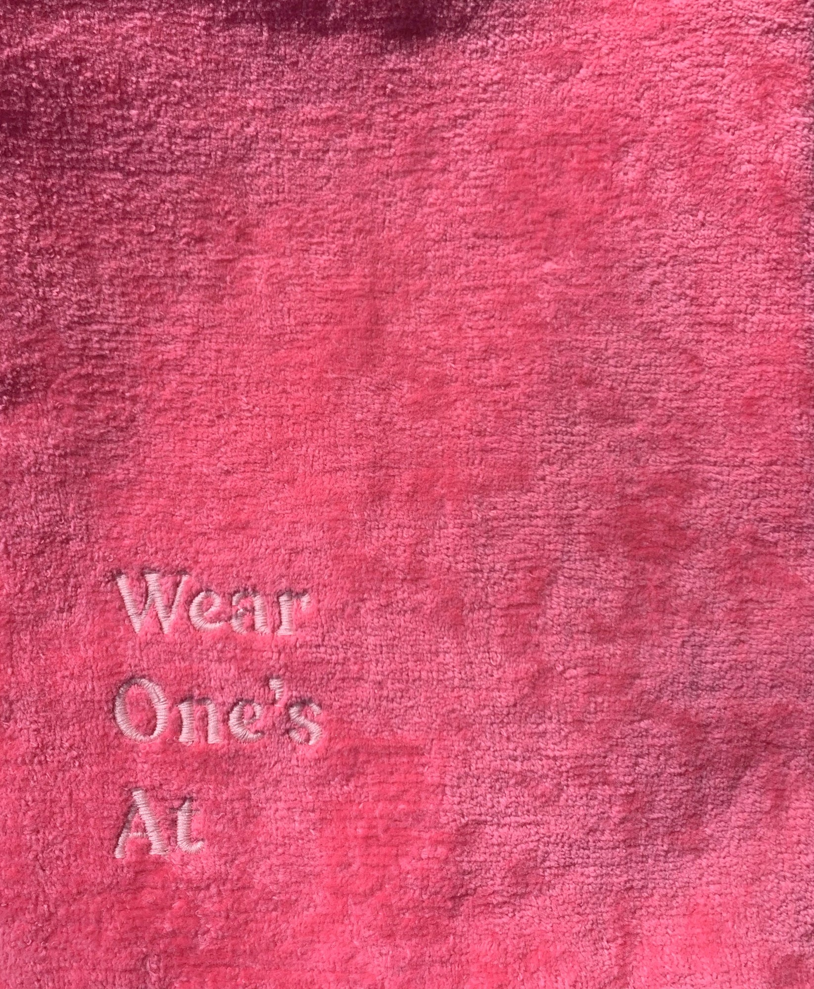 Wear One's At Logo Sport Towel in Punch Pink Detail View