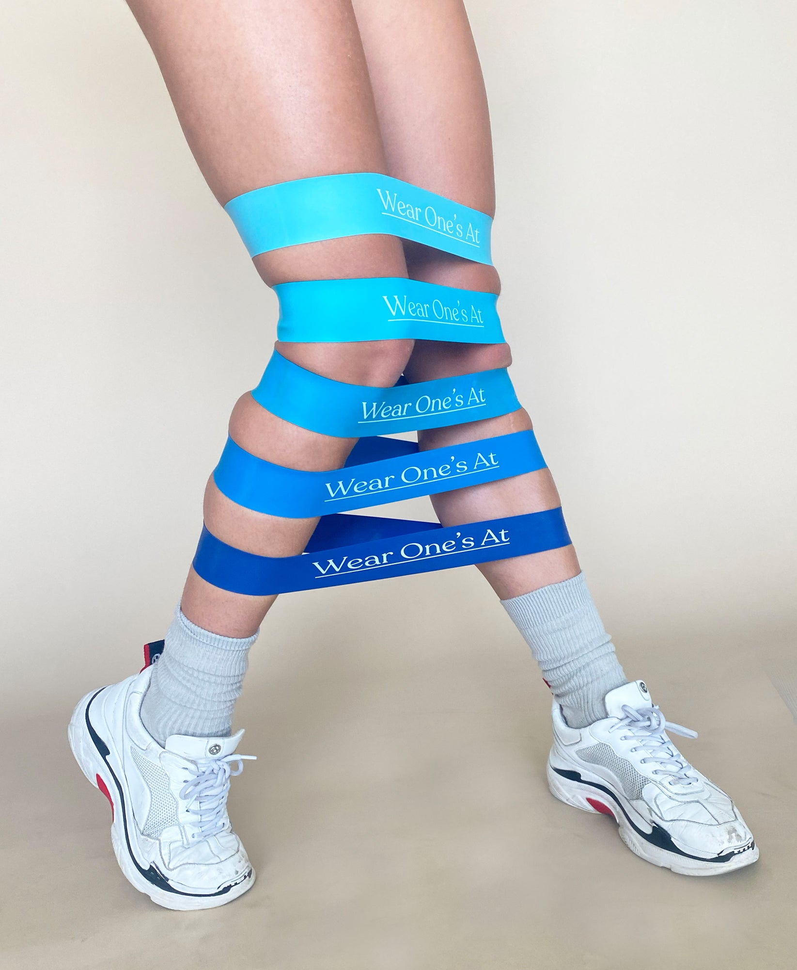 Wear Ones At Resistance Bands in Blue on Model