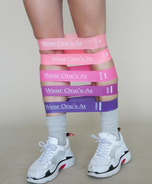 Wear Ones At Resistance Bands in Pink on Model