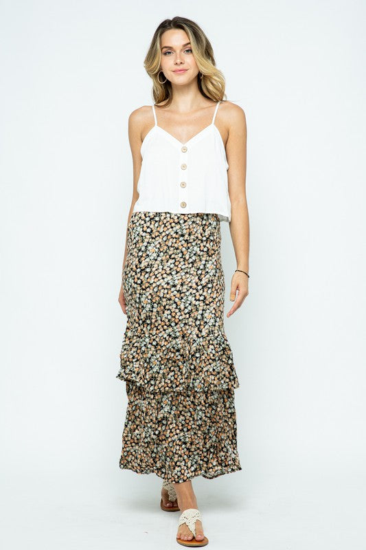 The Juliet Ruffled Maxi Skirt