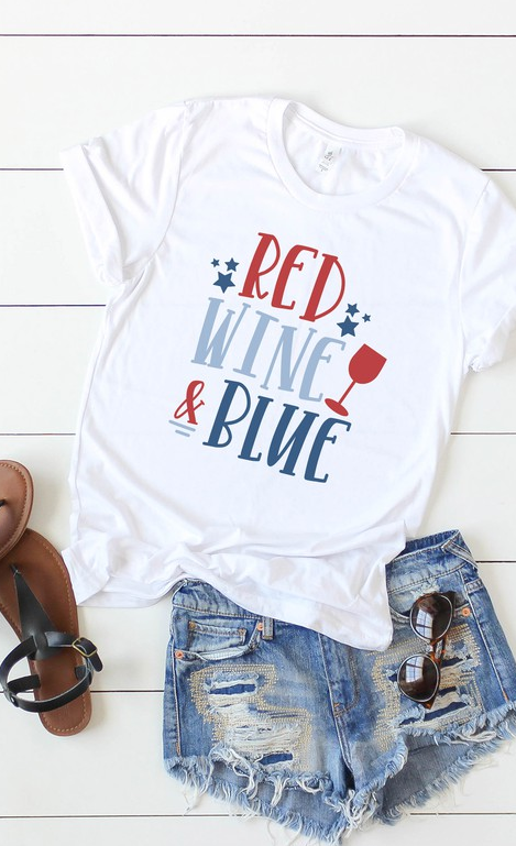 Red, Wine & Blue Tee