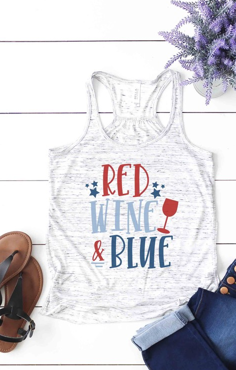 Red Wine & Blue Tank Top