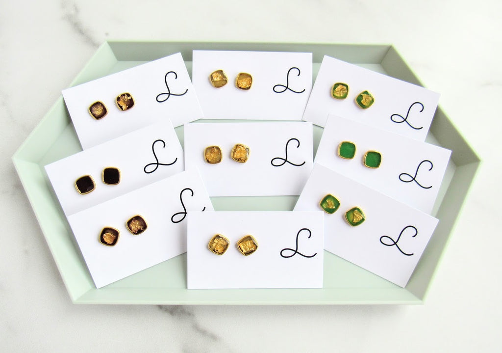 Leo & Lynn Resin Stud Ear Studs