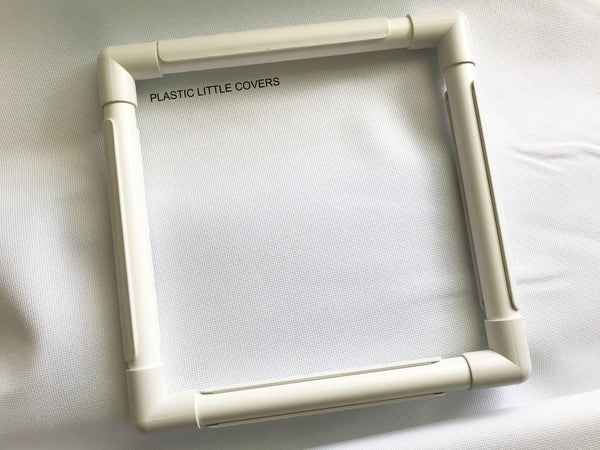 11 x 11 Inch Craft Frame. Plastic Clip Frame for Cross Stitch and Embroidery. Embroidery Hoop Alternative.