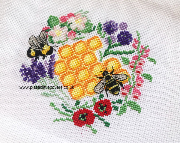 Bees and Blooms - Cross Stitch Pattern PDF.