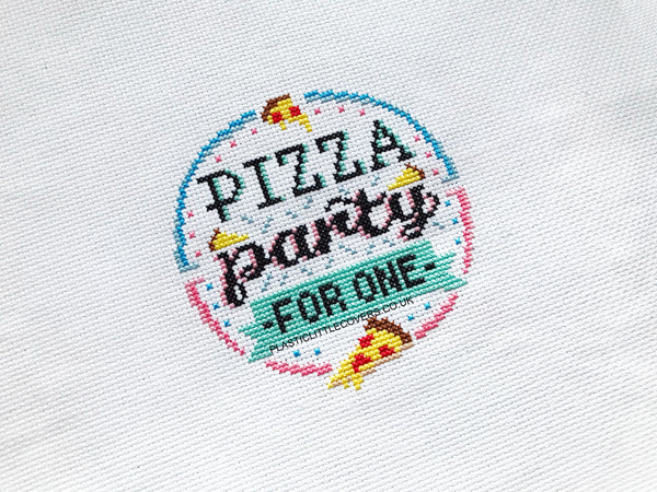 Cross Stitch Kit - Pizza Party for One.