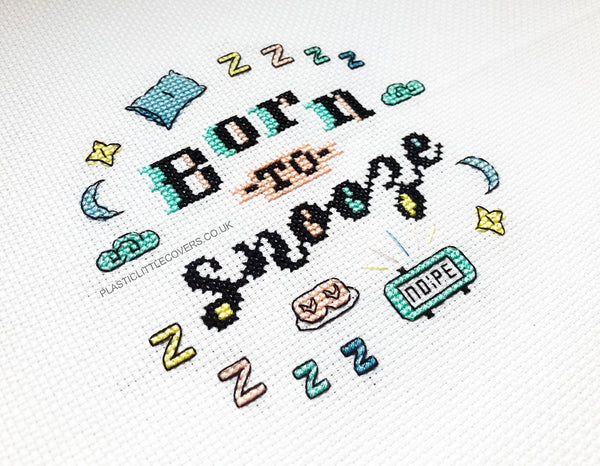 Cross Stitch Kit - Born to Snooze