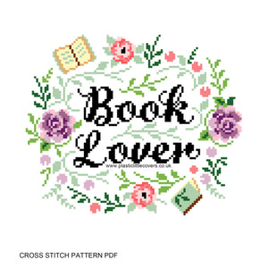 Book Lover - Cross Stitch Pattern PDF.